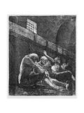 Jean Valjean in Prison  Illustration from 'Les Miserables'