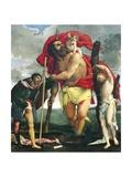 St Christopher Between Saints Rocco and Sebastian  1532-1535
