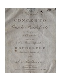 Title Page of Score for Concerto for Piano and Orchestra No 5  Opus 73