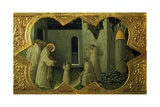 Saint Benedict Resuscitating a Monk  Detail from the Predella of the Altarpiece Coronation of Mary