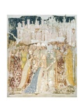 The Arrival of St Ursula in Rome  Detail from the Fresco Legend of St Ursula  1360-1366