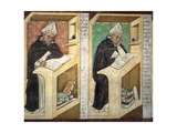 St Albert Great  Detail from Cycle of Forty Illustrious Members of Dominican Order  1352