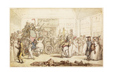Napoleon's Coach Being Viewed by Fashionable London