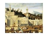 City of Jerusalem  Detail from Preaching of St Stephen in Jerusalem