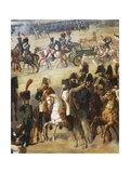 Napoleon Giving Orders on Battlefield  Detail from French Army Pulling Down Rosbach Column