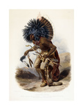 Pehriska-Rupha: Moennitarri Warrior in the Costume of the Dog Danse  1839-1841