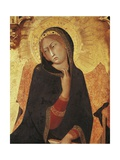 Figure of Mary  Detail of the Annunciation with St Ansano and St Massima  1333