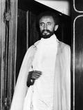 Emperor Haile Selassie I of Ethiopia Photographed at Euston Station