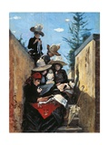 Mrs Clementina Fiorini with Her Daughters in Poggio Piano  1887