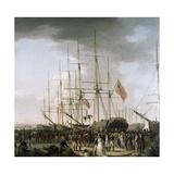 Cavalry Embarking at Blackwall  Near Greenwich  April 24  1793