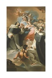 Our Lady of Rosary with Child  St Dominic and St Vincent Ferrer  Circa 1773