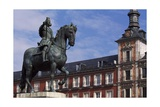Spain  Madrid  Plaza Mayor  Equestrian Statue of Philip Iii  1616