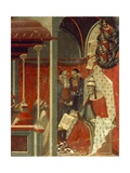 Honorius III Approving Carmelite Rule  Detail from Predella of Altarpiece for the Carmine