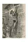 He Had Inevitably Fallen to the Ground  Had Not His Wrist Been Securely Fastened to the Rope