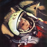 Yuri Gagarin in the Cabin of 'Vostok'