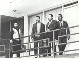 Martin Luther King Standing on the Balcony of the Memphis Hotel
