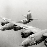 Two B26 Marauder Bombers of the 9th Air Force in Flight  Normandy  France  July 1944