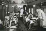 Afternoon Tea on Board 'The Empire Builder' of the Great Northern Railway  Late 1930S