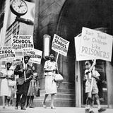 Black Parents and Children Demonstrating Against School Segregation in Saint Louis  Missouri  1960S
