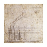 Design Drawings for Dome of St Peter's Basilica in Vatican  Design by Michelangelo