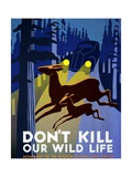 """Don't Kill Our Wildlife""   Department of the Interior  National Park Service  Washington 1939"