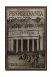 Pennsylvania Station in New York City'  Advertisement for the Pennsylvania Railroad Company  1910