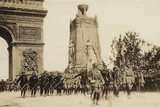 French Troops Marching in Paris in the Parade Commemorating Victory in World War I  1919