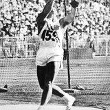 Hal Connolly Winning the Gold Medal for the Hammer Throw at the 1956 Melbourne Olympics