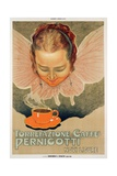 Poster Advertising Pernigotti Roasting Coffee  Printed by Barabino and Graeve  Genoa  1924