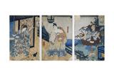 Triptych with the Adventures of Coxinga/ Watonai by Hachiman Taro Yoshiie