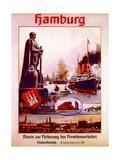 Hamburg: United for the Advancement of Tourism'  Poster Advertising the Hamburg America Line  1906