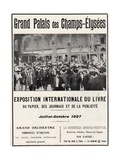 Poster for the Exposition Internationale Du Livre at the Grand Palais  1907