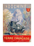 Indochine Terre Francaise'  Cover of an Official Booklet on the French Colonies  1944