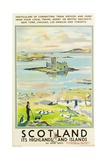 Scotland  Kishmul Castle Isle of Barra  Poster Advertising British Railways  1952