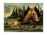 Micmac Tribe Hunters and Fishermen