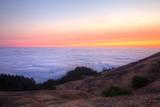 Above the Fog Line at Sunset  Mount Tamalpais  Marin County