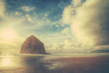 Dreamy Scene at Haystack Rock  Cannon Beach  Oregon Coast