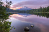 Mount Hood Reflected in Beautiful Trillium Lake