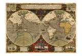 World Expeditions Map with Routes of Sir Francis Drake and Thomas Cavendish