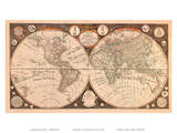 A New Map of the World - with all the New Discoveries by Capt Cook and Other Navigators