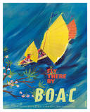 The Orient - Fly There By BOAC - Hong Kong Thailand Cambodia Asia