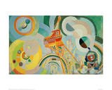 Study for Air, Iron, Water, 1936/1937 Giclée par Robert Delaunay