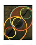 Black Relief with Colour Circles, 1930/32 Giclée par Robert Delaunay