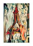 Eiffel Tower, 1910 Giclée par Robert Delaunay