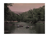 Canoes in Wissahickon Creek  and Walnut Lane Bridge in Distance