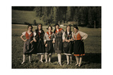 Group of Girls Pose on Holiday in One of Styria's Mountain Villages