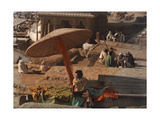 """A Fakir Sits Beside the """"Soul-Cleansing"""" Ganges River"""