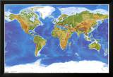 Satellite Physical Map of The World