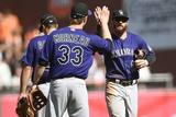 Apr 12  2014  Colorado Rockies vs San Francisco Giants - Charlie Blackmon  Justin Morneau