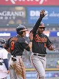 Apr 4  2014  Baltimore Orioles vs Detroit Tigers - David Lough  Adam Jones  Chris Davis
